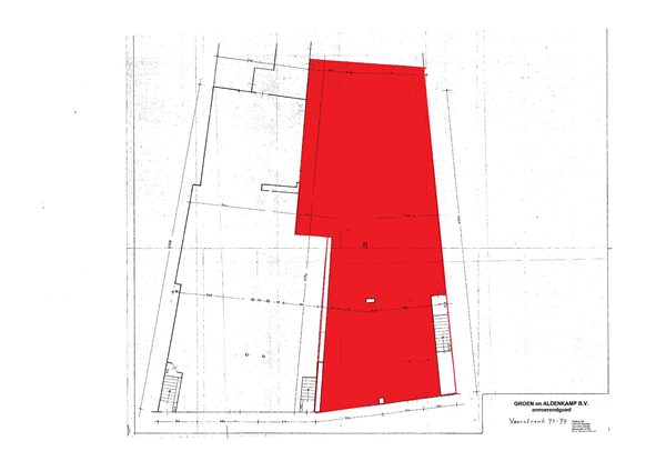 Floorplan - Voorstraat 77, 3441 CJ Woerden