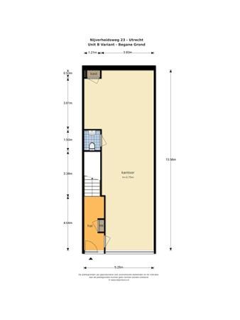Floorplan - Nijverheidsweg 25, 3534 AM Utrecht