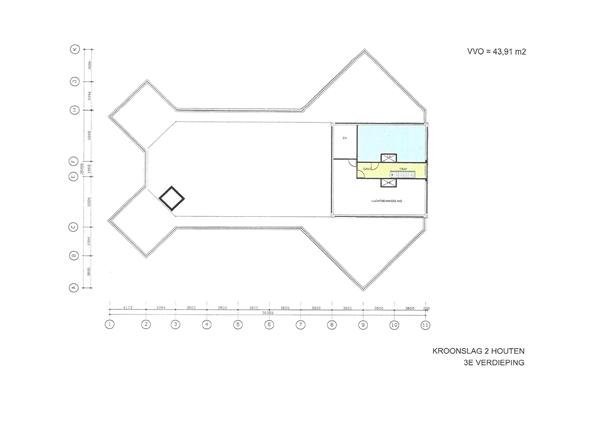 Floorplan - Kroonslag 2-6, 3991 TW Houten