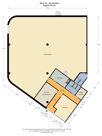 Floorplan - Benit 30A, 1043 BB Amsterdam