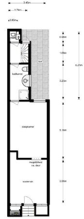 Floorplan - Kerkstraat 64sous, 1017 GN Amsterdam