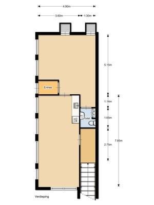 Floorplan - Schipbeekstraat 2, 1078 BL Amsterdam