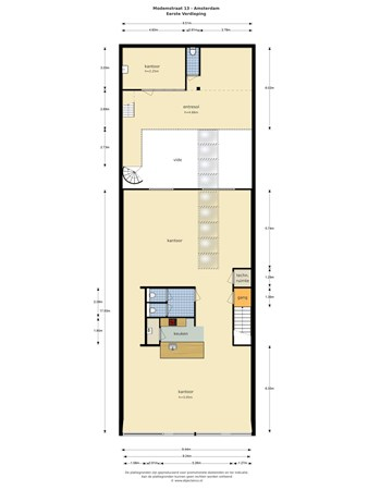Floorplan - Modemstraat 13, 1033 RW Amsterdam