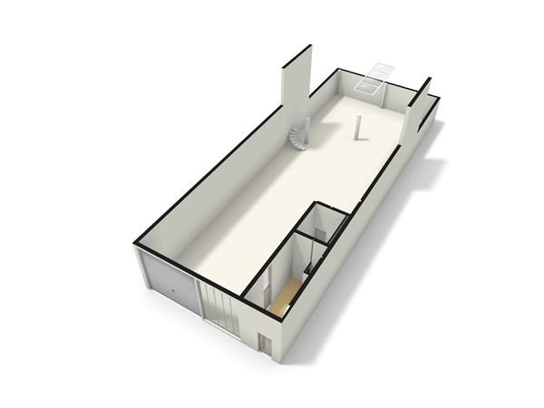 Floorplan - Modemstraat 13B, 1033 RW Amsterdam