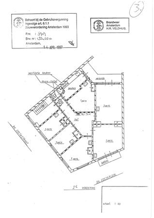 Floorplan - Da Costastraat, 1053 ZC Amsterdam
