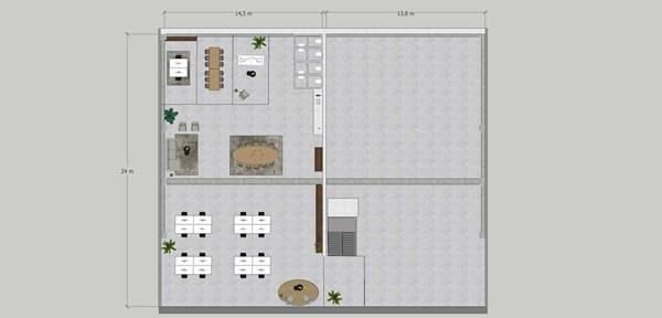 Floorplan - Hollandse Kade 25, 1391 JD Abcoude