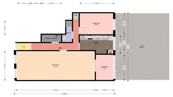 Floorplan - 2e Sweelinckstraat 79, 2517 GT Den Haag