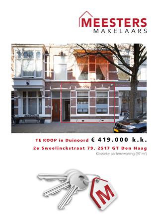 Brochure -  - 2e Sweelinckstraat 79, 2517 GT Den Haag