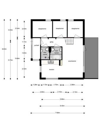 Floorplan - Lage Bergweg, 7361 Beekbergen