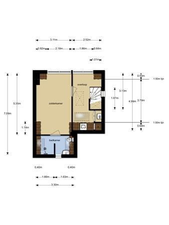 Floorplan - Lorentzweg 80, 1223 HR Hilversum