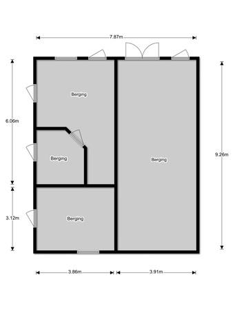 Floorplan - Koestraat 1a, 5133 NC Riel
