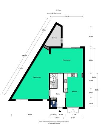 Floorplan - Tweede Oosterparklaan 272, 3544 AX Utrecht