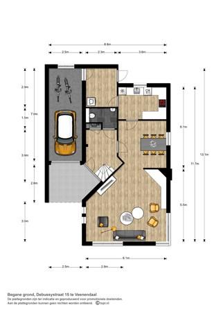 Floorplan - Debussystraat 15, 3906 BK Veenendaal