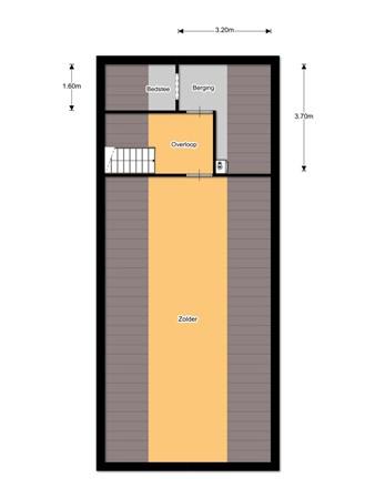 Floorplan - De Bosk 6, 9221 SM Rottevalle