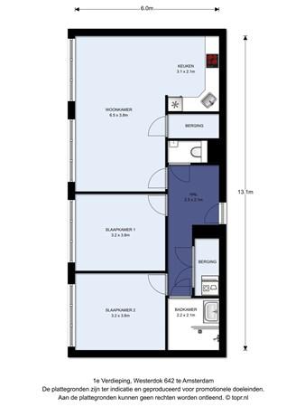 Floorplan - Westerdok 642, 1013 BV Amsterdam