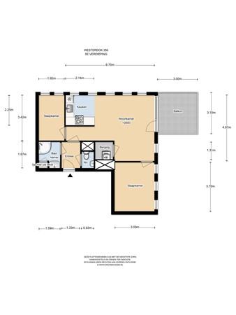 Floorplan - Westerdok 356, 1013 BH Amsterdam