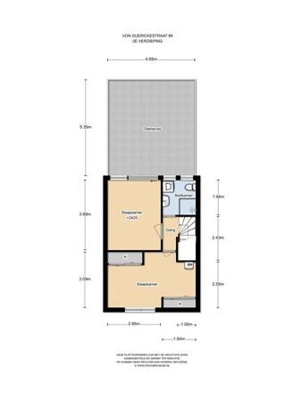 Floorplan - Von Guerickestraat 88, 1097 RC Amsterdam