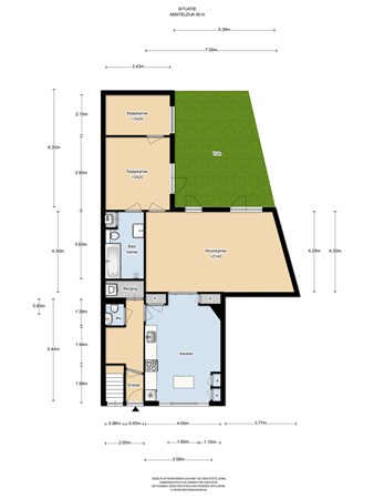 Floorplan - Amsteldijk 80H, 1074 JA Amsterdam