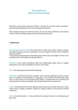 Brochure preview - Description of Alpenrock furnishings