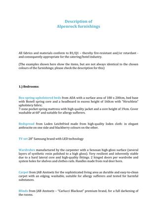 Brochure preview - Description of furnishings