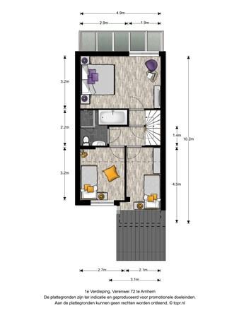 Floorplan - Verenwei 72, 6843 ZW Arnhem