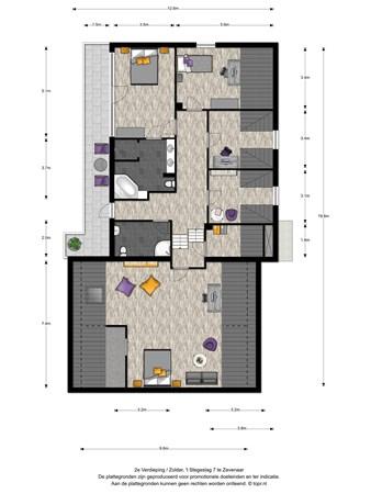 Floorplan - 't Stegeslag 7, 6903 XR Zevenaar