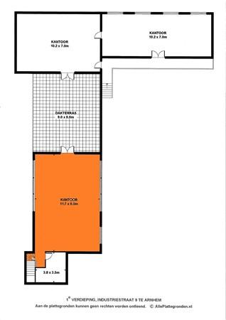 Floorplan - Industriestraat 9, 6827 BD Arnhem