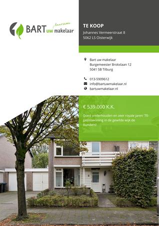 Brochure - Johannes Vermeerstraat 8, 5062 LS OISTERWIJK (1) - Johannes Vermeerstraat 8, 5062 LS Oisterwijk