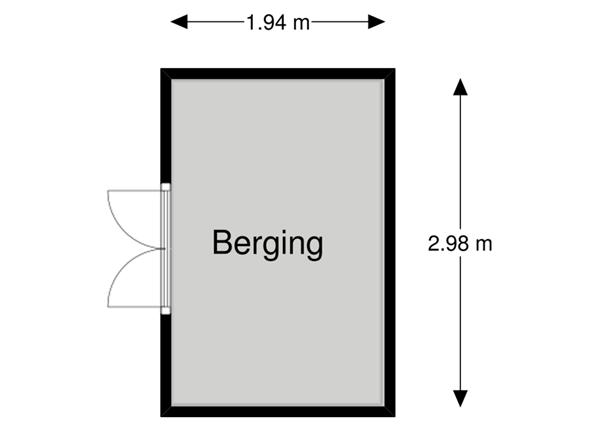 Floorplan - Heibocht 2, 5089 PK Haghorst