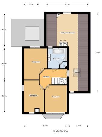 Floorplan - Abe Lenstrastraat 12, 7572 EB Oldenzaal