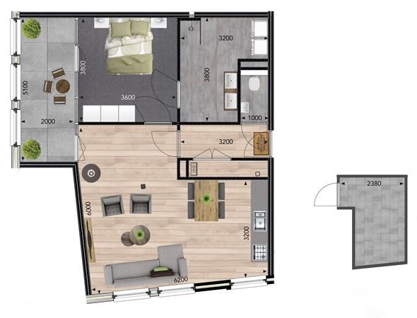 Floorplan - Deurningerstraat 34-1, 7571 BD Oldenzaal