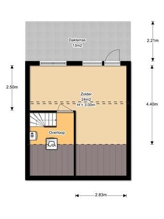 Floorplan - P. Westdorpstraat 6, 4007 WZ Tiel