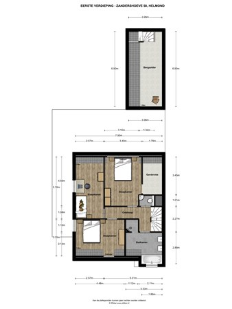 Floorplan - Zandershoeve 58, 5708 TC Helmond