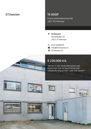 Brochure preview - Frans Zeilemakerstraat 88, 1827 PH ALKMAAR (1)