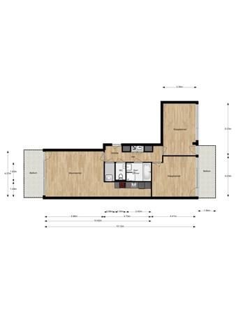 Floorplan - Christoffelkruidstraat 54, 1032 LK Amsterdam