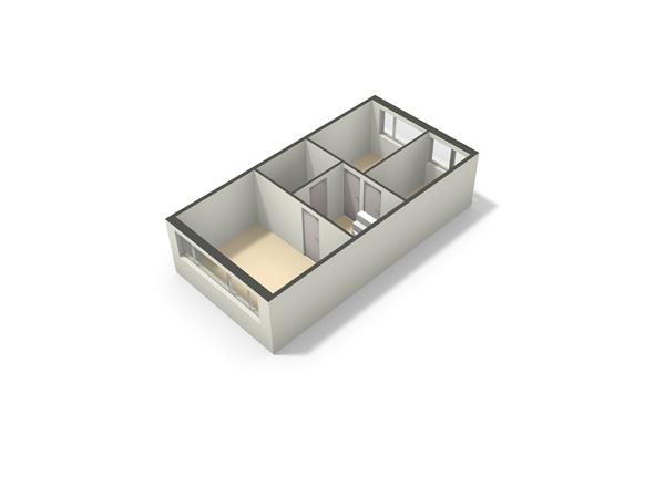 Floorplan - Korte Dreef 34, 3902 AW Veenendaal