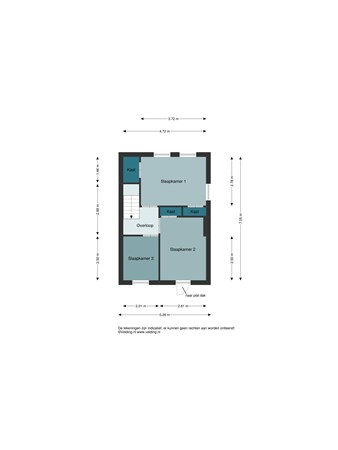 Floorplan - Margrietstraat 20, 7681 WK Vroomshoop