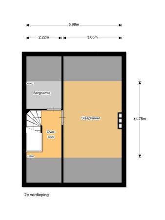 Floorplan - Meeuweweg 10, 1949 CT Wijk aan Zee