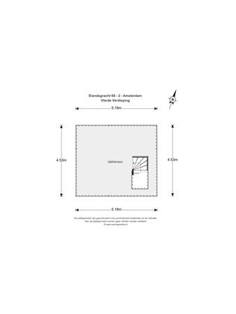 Floorplan - Elandsgracht 68-2, 1016 TX Amsterdam