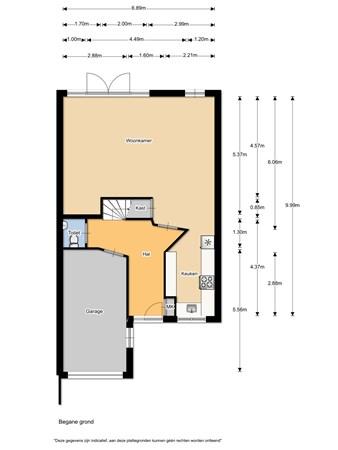 Floorplan - Weg Acker 5, 1965 TE Heemskerk