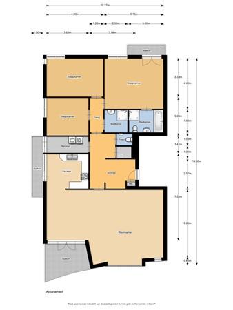 Floorplan - Marquettelaan 6E, 1961 JP Heemskerk