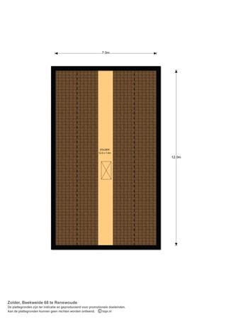Floorplan - Beekweide 68, 3927 SC Renswoude