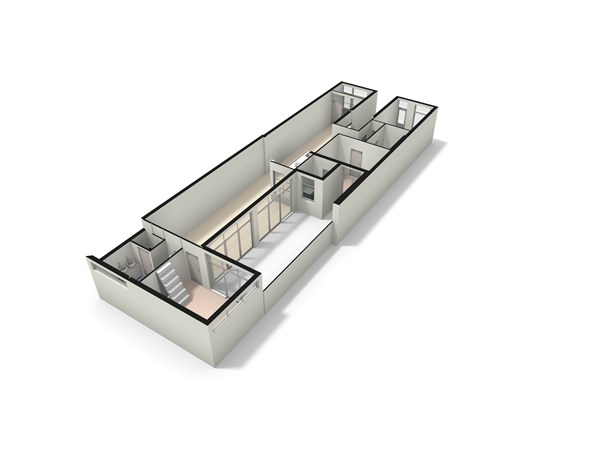 Floorplan - Jacob van Lennepkade 408HS, 1053 NN Amsterdam