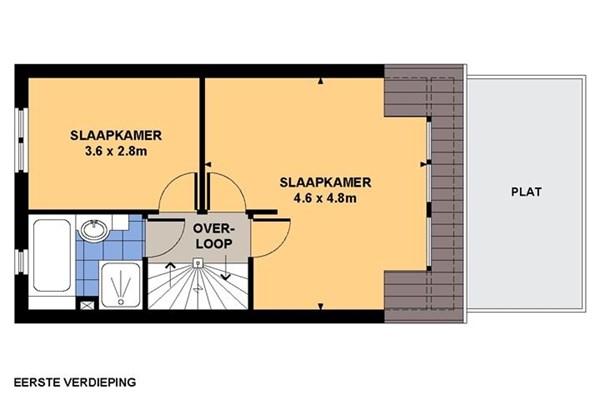 Floorplan - Sloetstraat 60, 6821 CW Arnhem