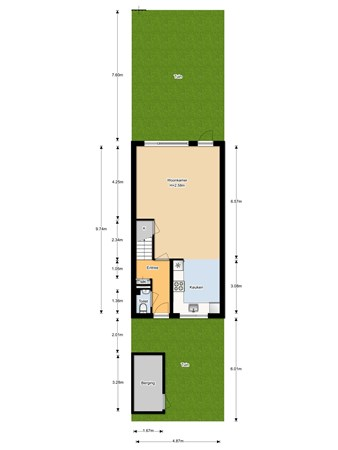 Floorplan - Beerze 3, 3961 HA Wijk bij Duurstede