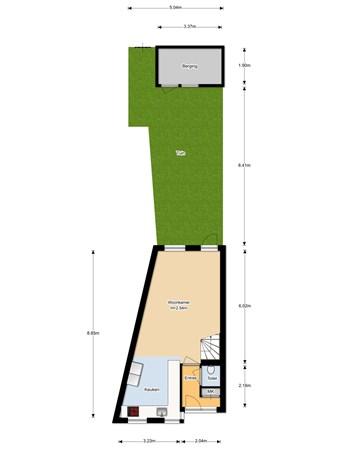 Floorplan - Vlierstraat 16A, 3961 AD Wijk bij Duurstede