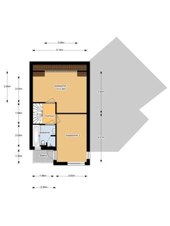 Floorplan - Amstel 200, 3961 HM Wijk bij Duurstede