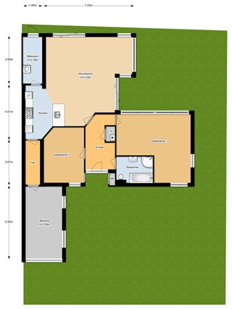 Floorplan - Agricolastraat 146, 3961 DG Wijk bij Duurstede