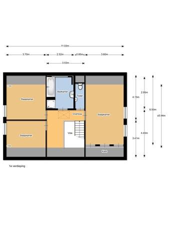 Floorplan - Platanenstraat 27, 5382 KA Vinkel