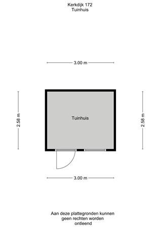 Floorplan - Kerkdijk 172, 3615 BK Westbroek